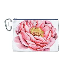 Large Flower Floral Pink Girly Graphic Canvas Cosmetic Bag (M)