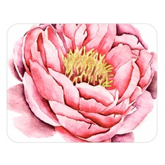 Large Flower Floral Pink Girly Graphic Double Sided Flano Blanket (Large)