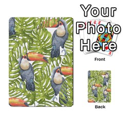 Tropical Print Leaves Birds Toucans Toucan Large Print Multi-purpose Cards (Rectangle)