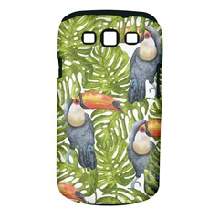 Tropical Print Leaves Birds Toucans Toucan Large Print Samsung Galaxy S III Classic Hardshell Case (PC+Silicone)