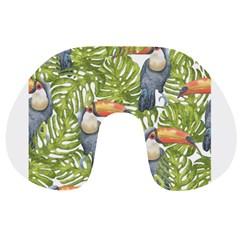 Tropical Print Leaves Birds Toucans Toucan Large Print Travel Neck Pillows