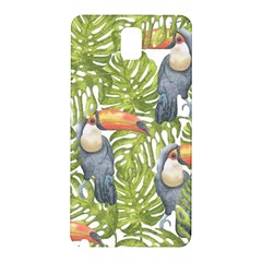 Tropical Print Leaves Birds Toucans Toucan Large Print Samsung Galaxy Note 3 N9005 Hardshell Back Case