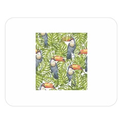 Tropical Print Leaves Birds Toucans Toucan Large Print Double Sided Flano Blanket (Large)