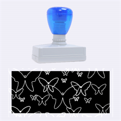 Blue neon butterflies Rubber Stamps (Large)