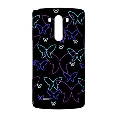 Blue neon butterflies LG G3 Back Case