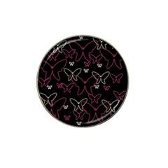 Pink neon butterflies Hat Clip Ball Marker
