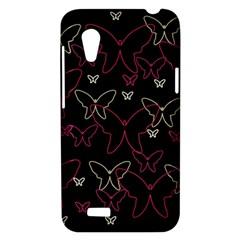 Pink neon butterflies HTC Desire VT (T328T) Hardshell Case