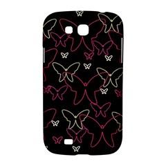 Pink neon butterflies Samsung Galaxy Grand GT-I9128 Hardshell Case