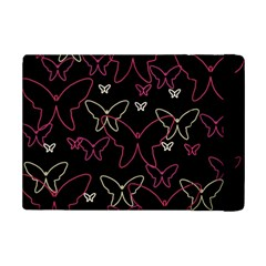 Pink neon butterflies iPad Mini 2 Flip Cases