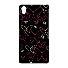 Pink neon butterflies Sony Xperia Z2