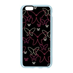 Pink neon butterflies Apple Seamless iPhone 6/6S Case (Color)