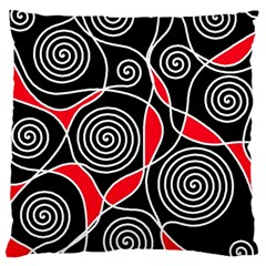 Hypnotic design Large Cushion Case (One Side)