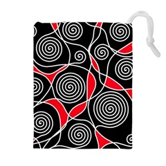 Hypnotic Design Drawstring Pouches (extra Large)