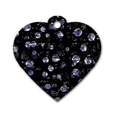 Blue soul Dog Tag Heart (Two Sides)