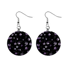 Purple soul Mini Button Earrings