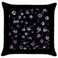 Purple soul Throw Pillow Case (Black)