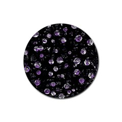 Purple soul Rubber Round Coaster (4 pack)
