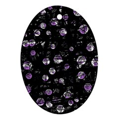Purple soul Oval Ornament (Two Sides)