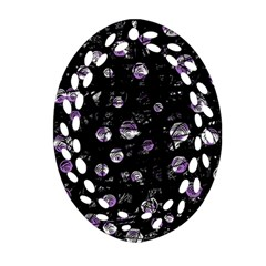 Purple soul Oval Filigree Ornament (2-Side)