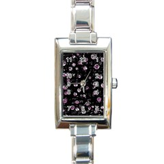 Purple soul Rectangle Italian Charm Watch