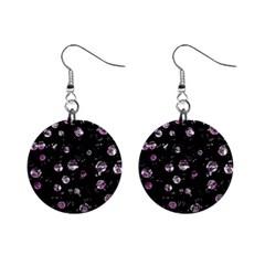 Purple soul Mini Button Earrings