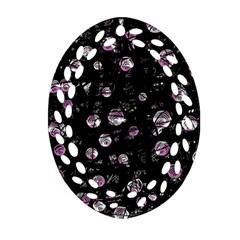 Purple soul Ornament (Oval Filigree)