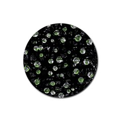 Green soul  Rubber Round Coaster (4 pack)