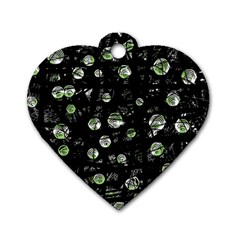 Green soul  Dog Tag Heart (One Side)
