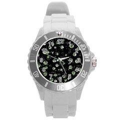 Green soul  Round Plastic Sport Watch (L)