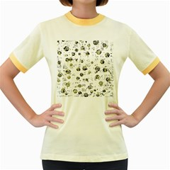 White and yellow soul Women s Fitted Ringer T-Shirts
