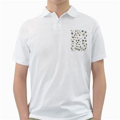 White and yellow soul Golf Shirts