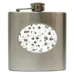 White and yellow soul Hip Flask (6 oz)