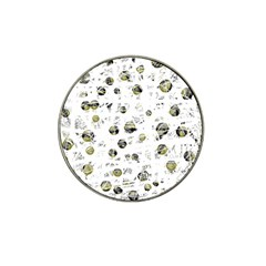 White and yellow soul Hat Clip Ball Marker (10 pack)