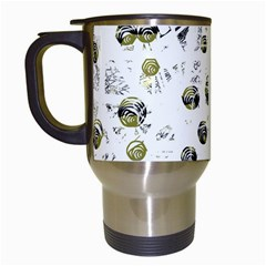 White and yellow soul Travel Mugs (White)