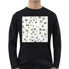White and yellow soul Long Sleeve Dark T-Shirts