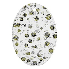 White and yellow soul Oval Ornament (Two Sides)