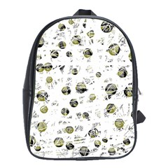 White and yellow soul School Bags(Large)