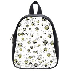 White and yellow soul School Bags (Small)