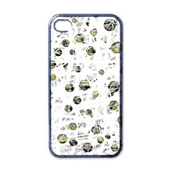 White and yellow soul Apple iPhone 4 Case (Black)