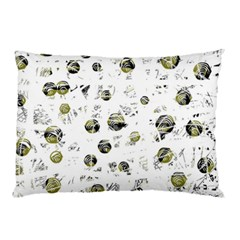 White and yellow soul Pillow Case (Two Sides)