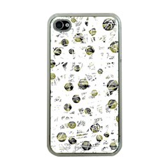 White and yellow soul Apple iPhone 4 Case (Clear)