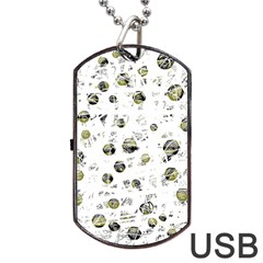 White and yellow soul Dog Tag USB Flash (One Side)