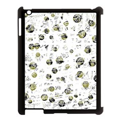 White and yellow soul Apple iPad 3/4 Case (Black)