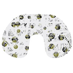 White and yellow soul Travel Neck Pillows