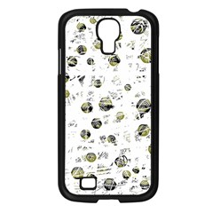 White and yellow soul Samsung Galaxy S4 I9500/ I9505 Case (Black)