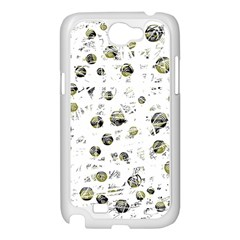 White and yellow soul Samsung Galaxy Note 2 Case (White)