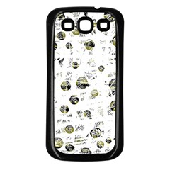 White and yellow soul Samsung Galaxy S3 Back Case (Black)