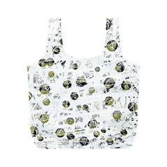 White and yellow soul Full Print Recycle Bags (M)