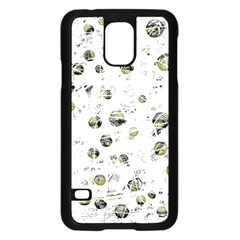 White and yellow soul Samsung Galaxy S5 Case (Black)