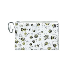 White and yellow soul Canvas Cosmetic Bag (S)